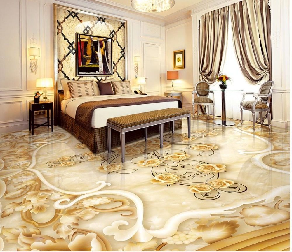 3d Stereoscopic Mural Wallpaper Aliexpress Com Buy Waterproof Floor Mural Painting Floor