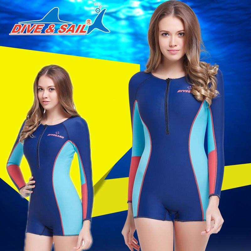 2016 New fashioned Scuba Snorkeling Wet Suit Scuba Diving Suit women XS-XL Blue lole капри lsw1349 lively capris xs blue corn