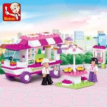 Фотография 102pcs little Small Luban building blocks Girl series snack house toys for children Compatible Lego mini Educational lepin block