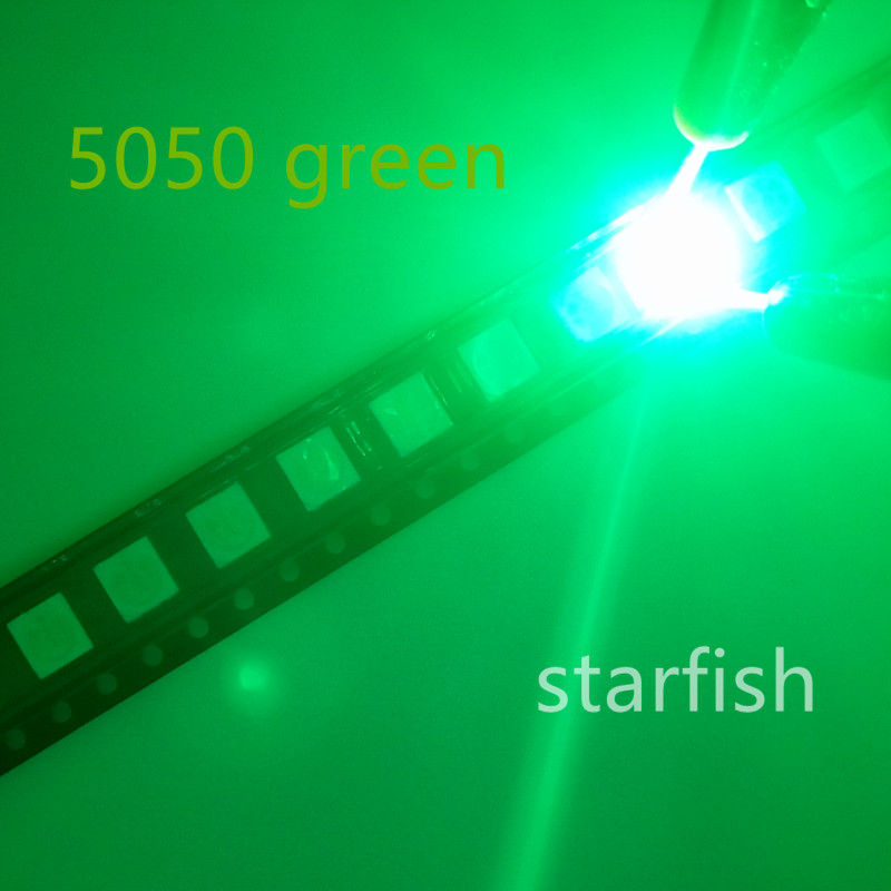 Back To Search Resultselectronic Components & Supplies Diodes 200pcs 5050 Smd Green Plcc-6 3-chips 9000 Mcd Ultra Bright Led High Quality Light-emitting Diodes 5050 Green Led 5050 Diodes Products Hot Sale