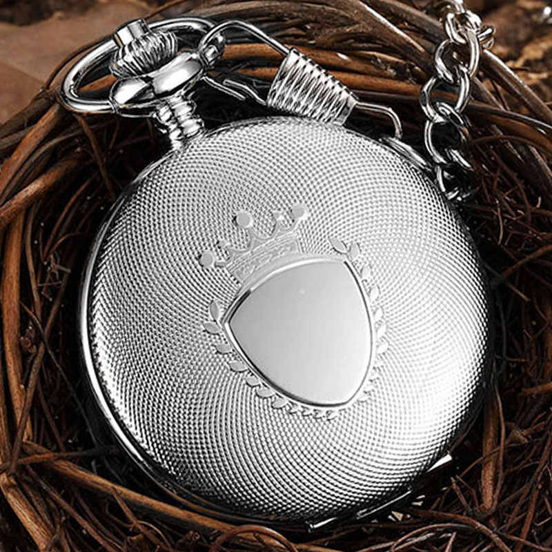 Retro Engraved Luxury Quartz Pocket Watch Chain Pendant Vintage Roman Numerals Necklace Watch Unisex Steampunk Women Men Gift