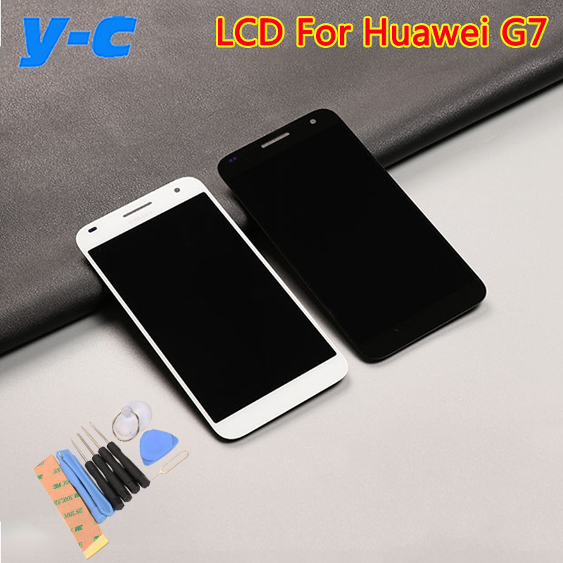 imágenes para Para Huawei Ascend G7 LCD Display + Pantalla Táctil 100% Nuevo Panel de Cristal Del Digitizador Para Huawei G7 G7-UL20