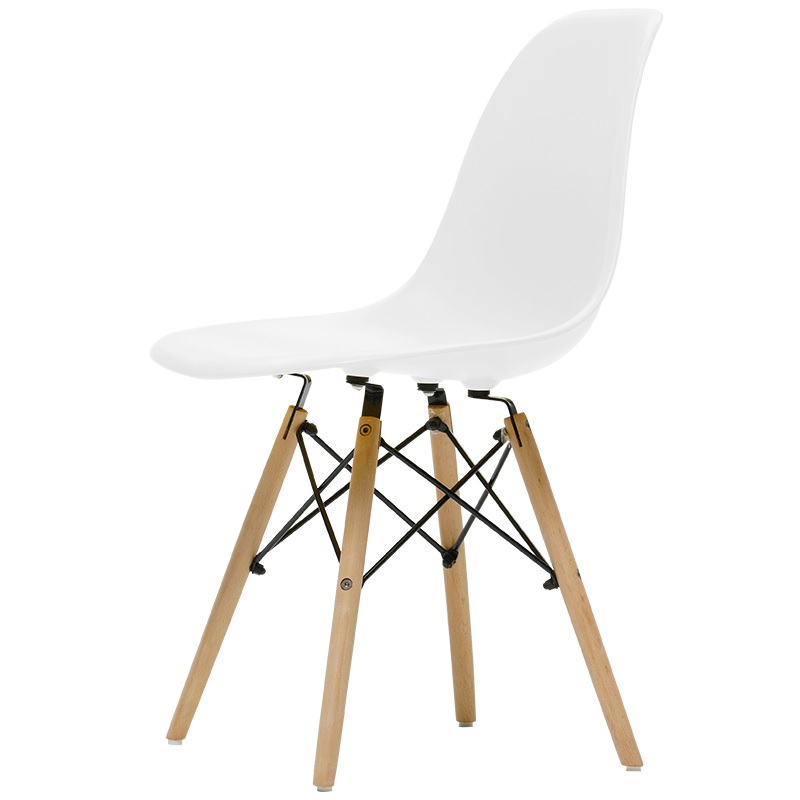 Sweden Design Chair with Plastic Seat and Backrest / Wood Feet of Breech