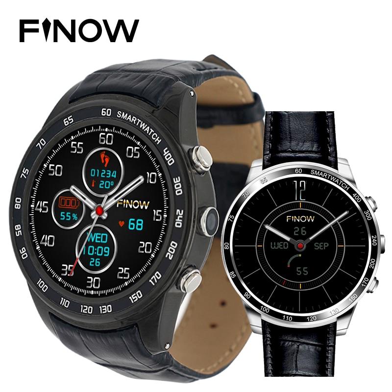 Finow Q7 plus montre smart watch Android 5.1 avec 0.3MP MTK6580 Ram512MB Rom8GB soutien 3G Smart Wacht Wifi BT 4.0 pour Android téléphone