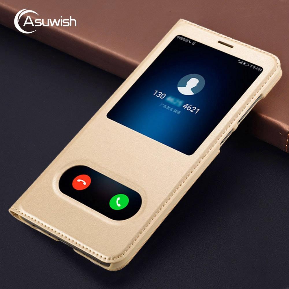 Asuwish Flip Cover Leather Case For Huawei Mate 10 Lite Nova 2i For Huawei Honor 9i Maimang 6 2017 Mate10 Lite Nova2i Phone Case
