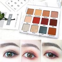 New Professional Fashion 12 Colors Cosmetic Matte Eyeshadow Cream Eye Shadow Beauty Makeup Palette Set Health & Beauty