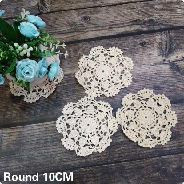 10cm Round Handmade Christmas Placemat Cotton Lace Crochet Doily