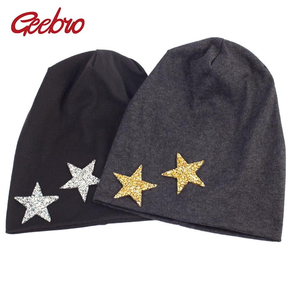 Geebro Beanie Hat New Star Primavera Strass das Mulheres Slouchy Beanie Hat para As Mulheres Handmade Skullies & Gorros gorro invierno mujer