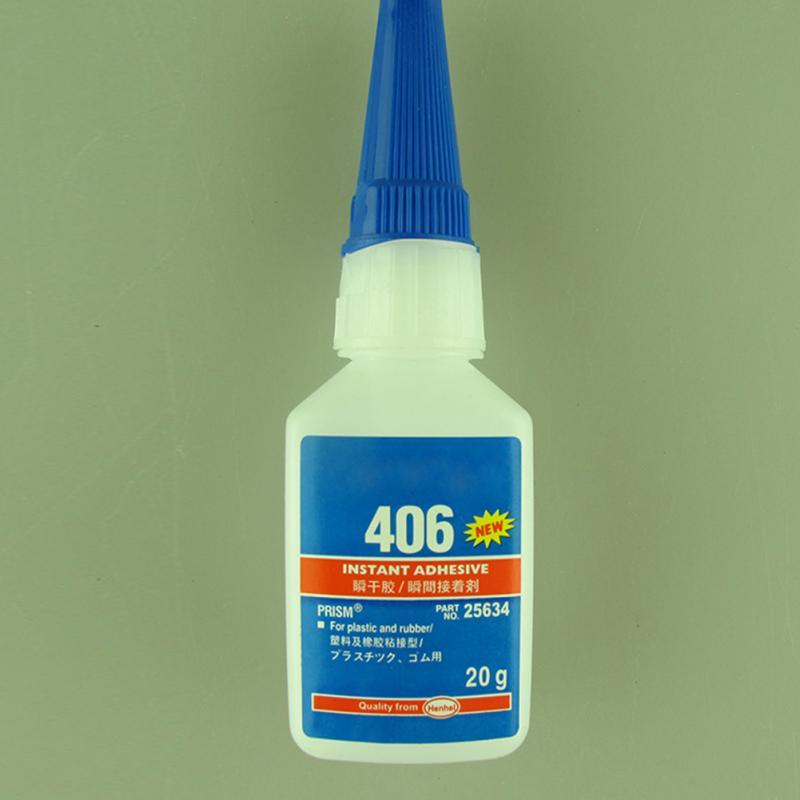 For Plastic/Wood Super Glue Multi-purpose For Office/School Liquid Glue 20g Type 406 Instant Adhesive