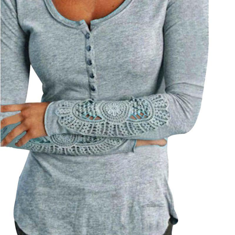 Pur Couleur Femmes Nouvelle Manches Longues Blusas Noir Blanc Chemises  Casual Dentelle Blouse Lâche Coton Tops Shirt 7e8b99c1704