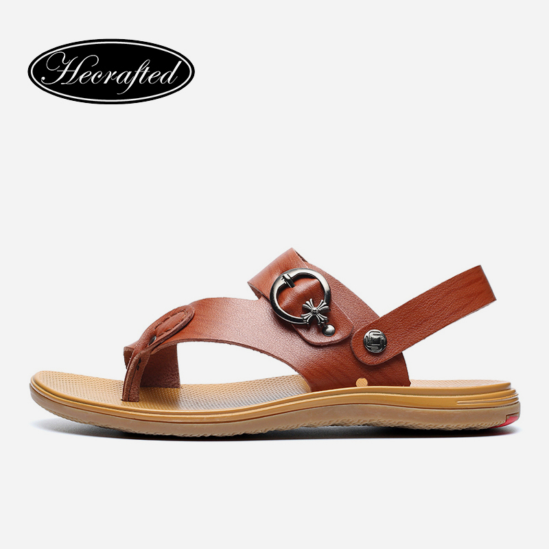 Handmade 38-47 genuine leather men sandals Slippers man summer leather shoes pantufas adulto HECRAFTED brands #1581