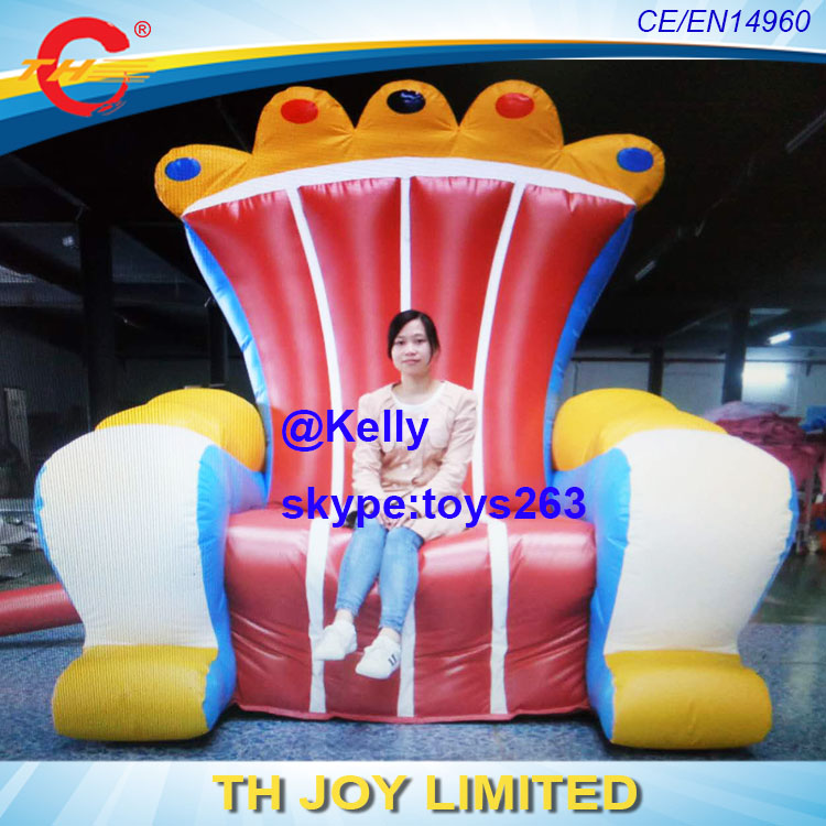 Inflatable Kids Birthday Chair: Free Air Shipping Inflatable King Queen Throne Chair Sofa