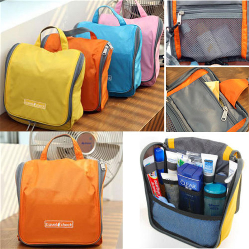 Waterproof Women Men Cosmetic Hanging Hook Bag Personal Travel Bag Toiletry Wash Bag Portable Makeup Organizer Toilet Diaper Bag