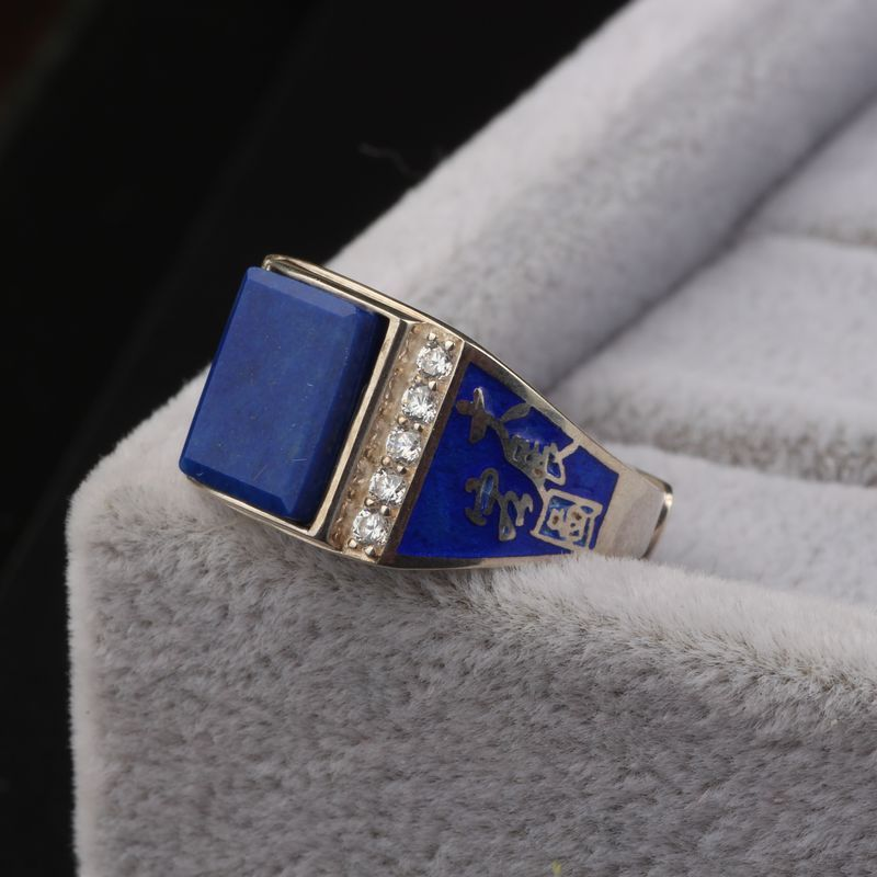 Thailand import s925 pure silver jewelry natural lapis lazuli imperial qing micro set ambitious men and women open ringThailand import s925 pure silver jewelry natural lapis lazuli imperial qing micro set ambitious men and women open ring