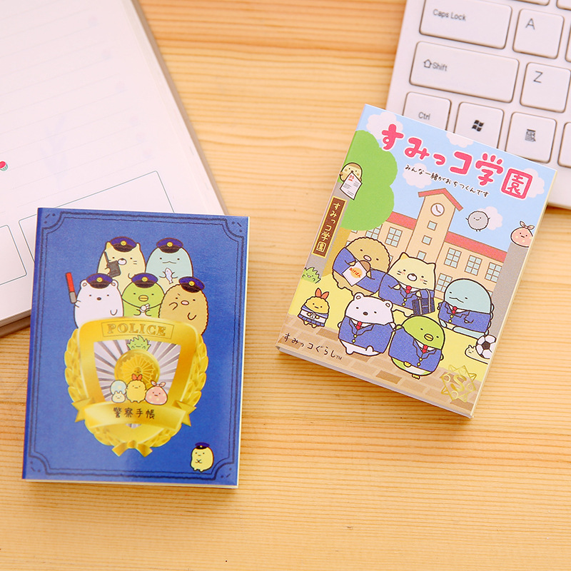 80Pcs/Pack Cartoon Corner Creature Sticky Post It N Times Memo Pad Notebook Student Sticky School Label Gift M0289