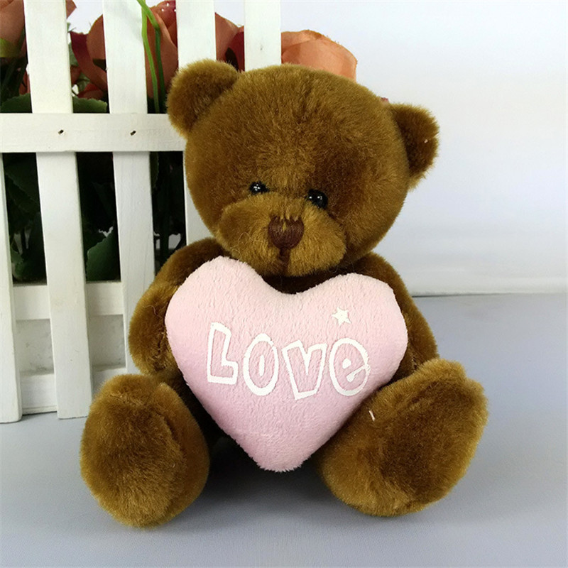 Cute teddy bear plush toy hug love heart cartoon plush toys wholesale with three kinds of colour for kids toys love for three oranges vocal score