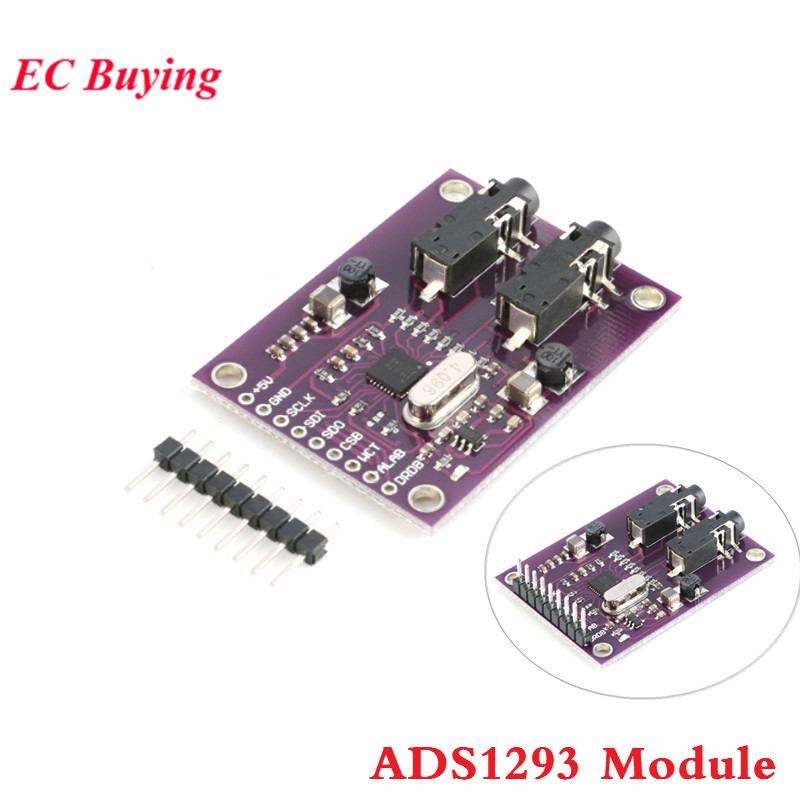 ADS1293 ECG Module Digital Electrocardiogram Module Physiological Signal Measurement 3 Channel 24 Bit Analog Front End