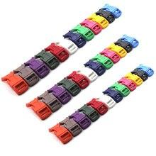16 мм~ 25 мм Цветные Пластиковые Контурные боковые пряжки для паракордовых браслетов, рюкзаков, обуви, сумок, Ошейников для кошек, собак, аксессуар «сделай сам»