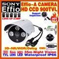 "Real Sony Effio-E-A 1/3""Sensor Analog 800/900TVL Hd Cctv Security Surveillance Camera Outdoor Waterproof IP66 OSD Meun WDR Video"