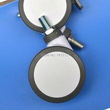 Бесплатная доставка 125 мм мебель мнлз Полный пластик без тормоза универсальный поворотный шкив Медицинское Оборудование Инструмент колесо