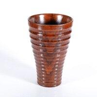 Nowy Wysokiej Jakości Ręcznie robione Drewniane Kubek Do Kawy Kubki Kubki Drewna W Teacups Teaware Szklanka Wody Piwa Kuchni akcesoria