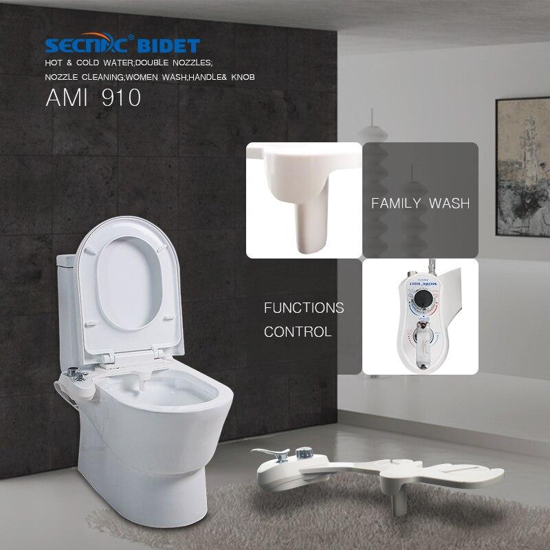 Secnac Nicht Elektrische Smart Toilette Bidet Badezimmer Bidet Zwei Düsen  Frau Waschen Familie Waschen Mechanische Bidet Shattaf In Secnac Nicht  Elektrische ...