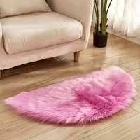 Soft Faux Fur Wool Imitation Sheepskin Rugs Faux Fur Non Slip Bedroom Shaggy Carpet Living Room Mats tappeto cucina rug