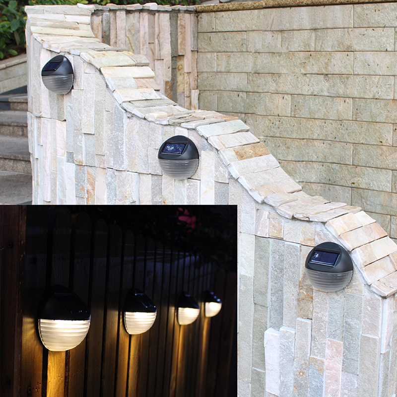 Hot Sale LED Light Lamp Waterproof 6 LED Lamp Outdoor Garden Decoration Solar LED Power Panel Landscape Lawn Fence Wall