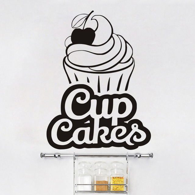 Cupcakes Wall Decals Bakery Logos Vinyl Wall Sticker For ...