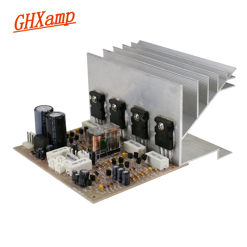 цена GHXAMP C5198+A1941 Amplifier Board 100W+100W Two Channel Stereo Power Amplifier Audio Hifi High Power with Heat Sink 1PC