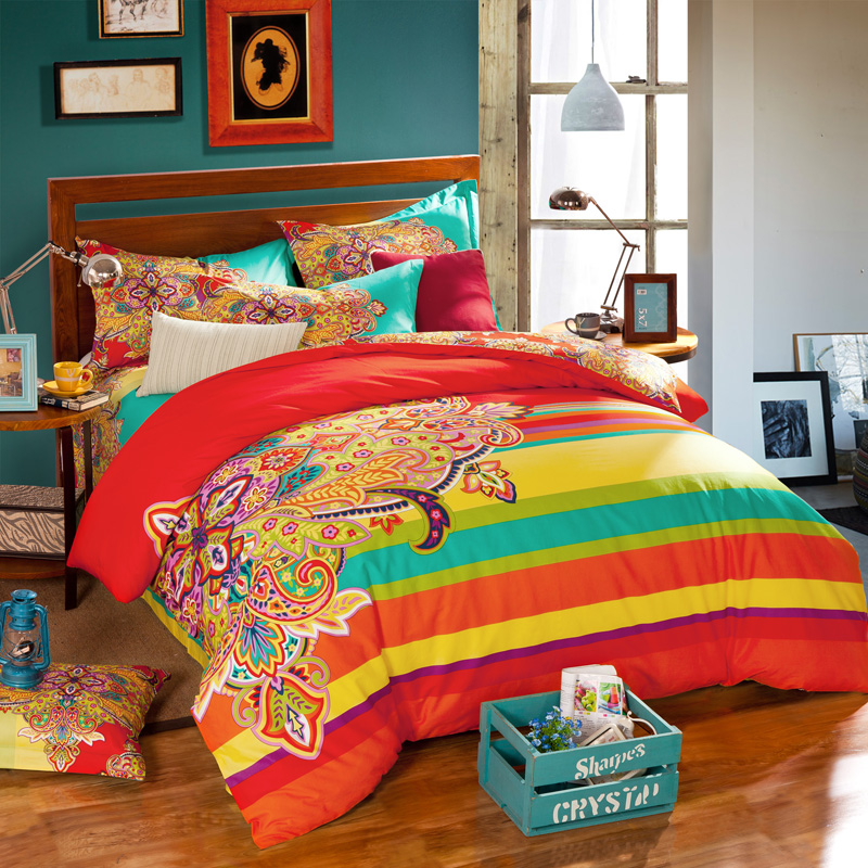 buy bohemian style colorful geometric. Black Bedroom Furniture Sets. Home Design Ideas