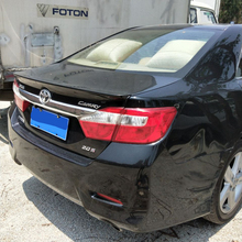For toyota Camry 2012 2013 2014 2015 high quality and hardness ABS material spoiler by primer or DIY color paint camry