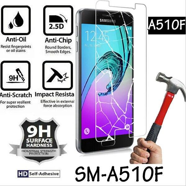 SM-A510F Kaca Perlindungan Untuk Samsung A5 2016 Filem Kaca Tempered - Aksesori telefon bimbit dan bahagian - Foto 2