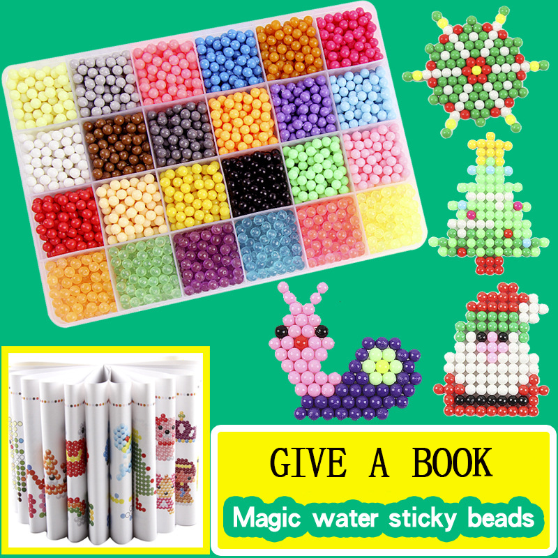 6000 Pcs DIY Magic Beads Animal Molds Hand Making 3D Puzzle Kids Educational Beads Toys For Children Spell Replenish