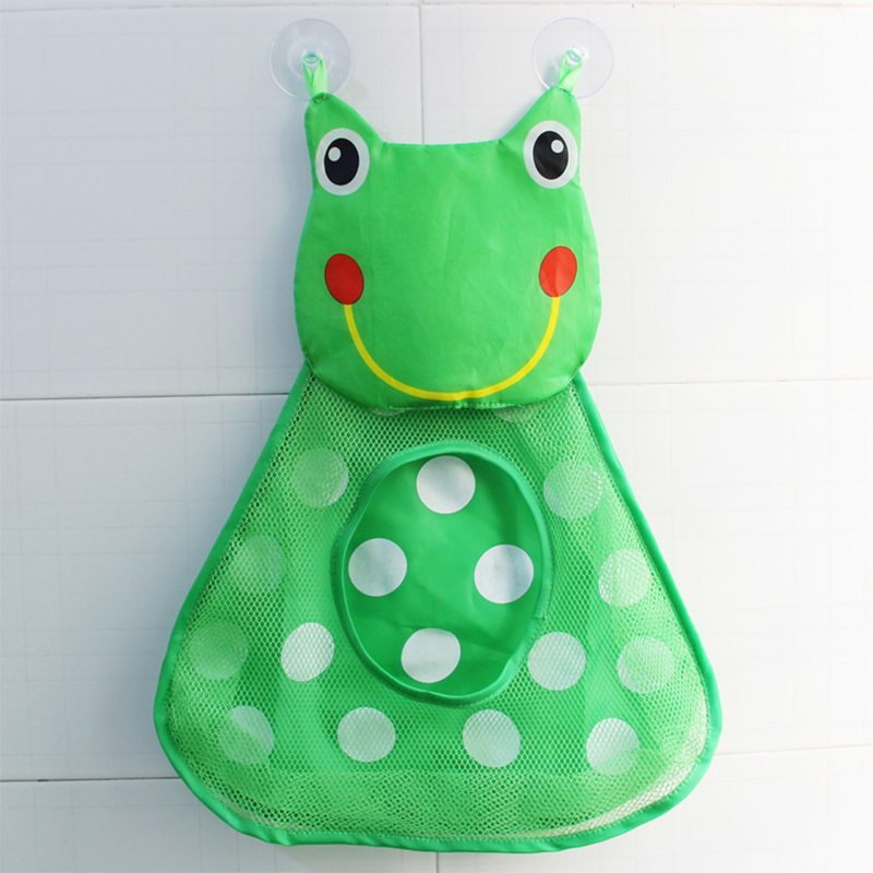 New Cartoon Little Frog Bath Storage Suction Cup Bag Baby Bathroom ...