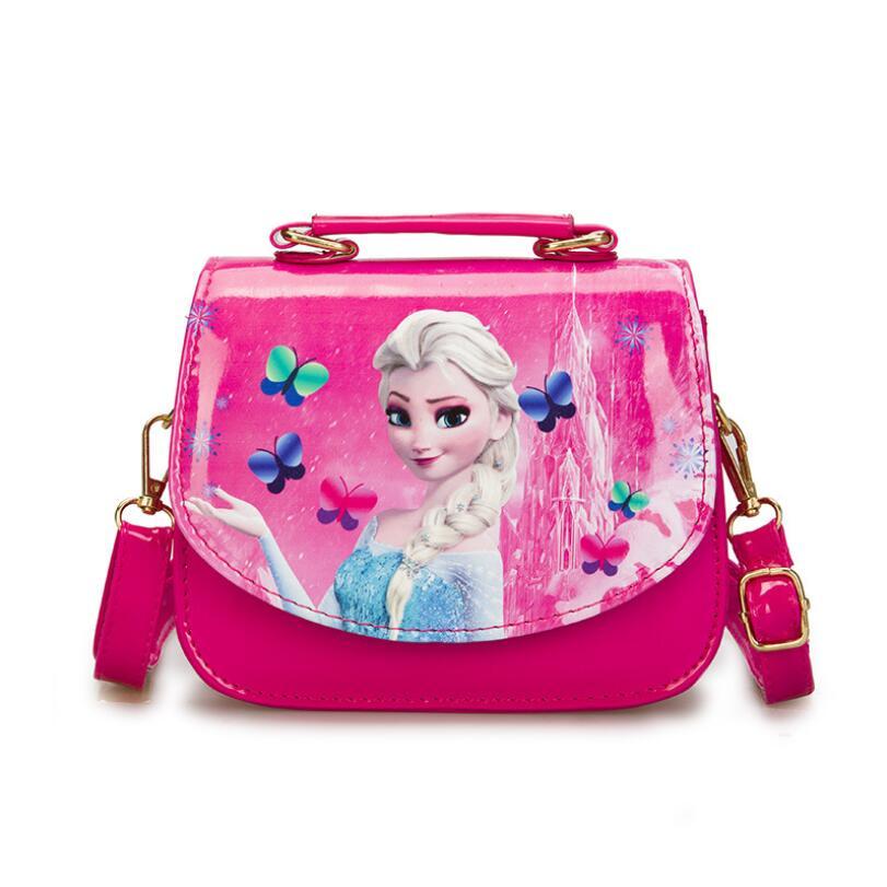 Elsa Bowknot Handbag Cute Mini Bag Children Cartoon Messenger Bags For Girls Kids Tote Girls Shoulder Bag