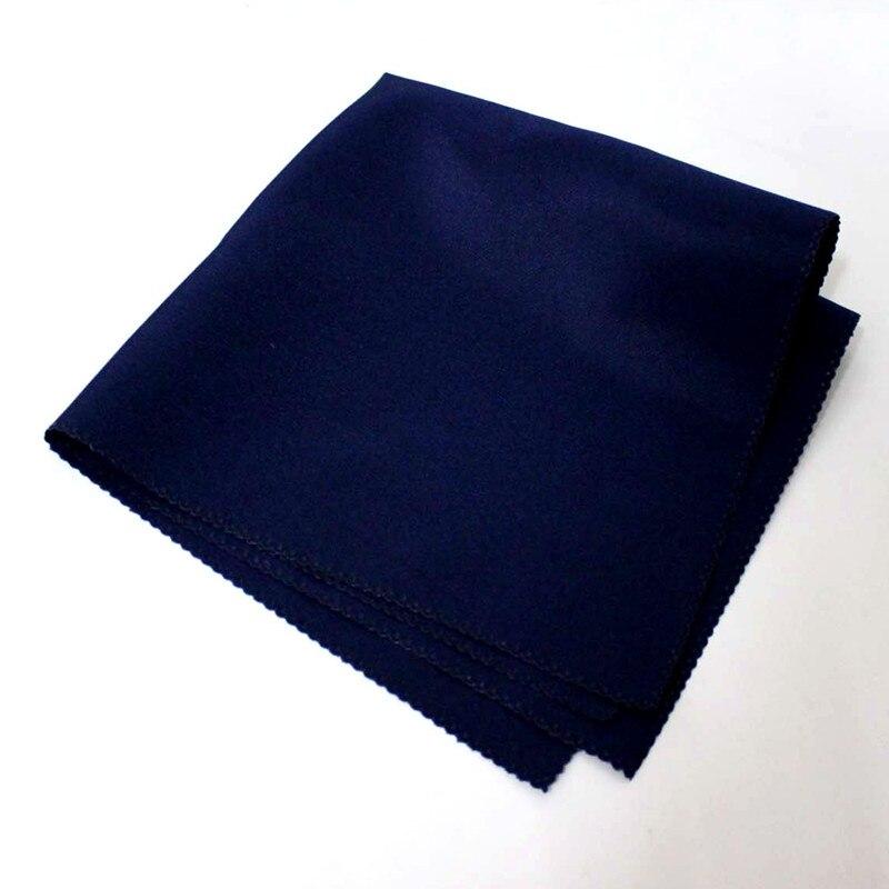 100 ชิ้น 45x45 เซนติเมตรน้ำเงินโพลีเอสเตอร์ผ้ากันเปื้อนผ้าลินินผ้าเช็ดปากผ้าเช็ดหน้าสำหรับห้องจัดเลี้ยงโรงแรมงานแต่งงาน-ใน ผ้าเช็ดปากบนโต๊ะอาหาร จาก บ้านและสวน บน   1