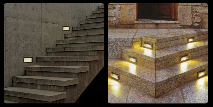 Recessed Led Outdoor Step Lights
