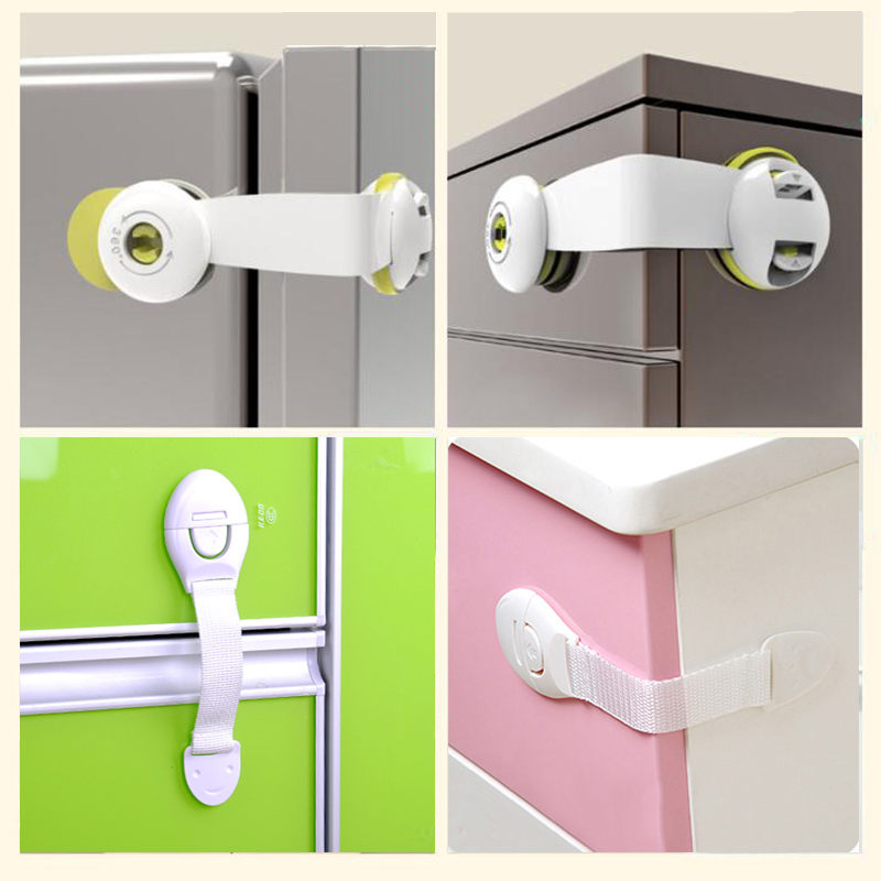 Baby Safety Protector Child Door Lock Protection Cabinet Refrigerator Locking Plastic Of Children Furniture Safety Strap