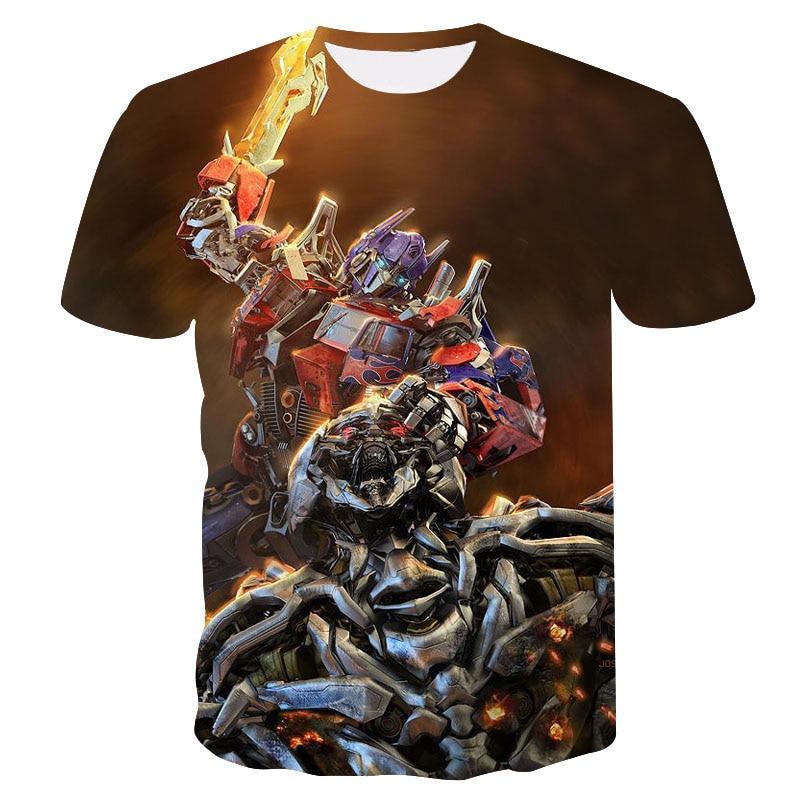 2019 summer new 3d printed transformers optimus prime   t     shirt   men clothing casual fashion Hot Movie men women tshirt Top