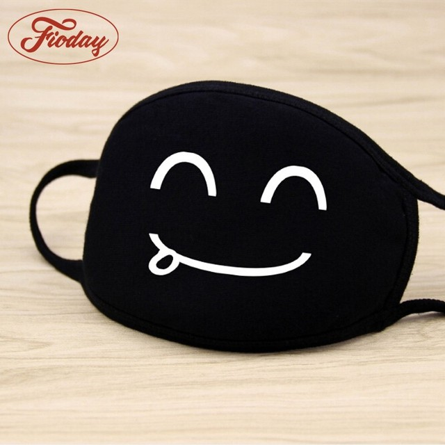 Fioday Cotton PM2.5 Black Mouth Mask Anti Dust Mask Activated Carbon Filter Windproof Mouth-muffle Bacteria Proof Flu Face Masks 2