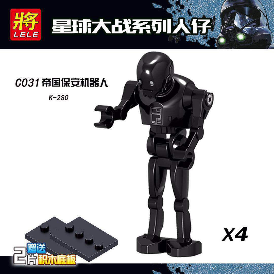 10pcs Star Legoingly Wars Clone Pilot K-2SO Robot Battle Droid RO-GR Dolls Building Blocks Best Collection Toys Children Gift