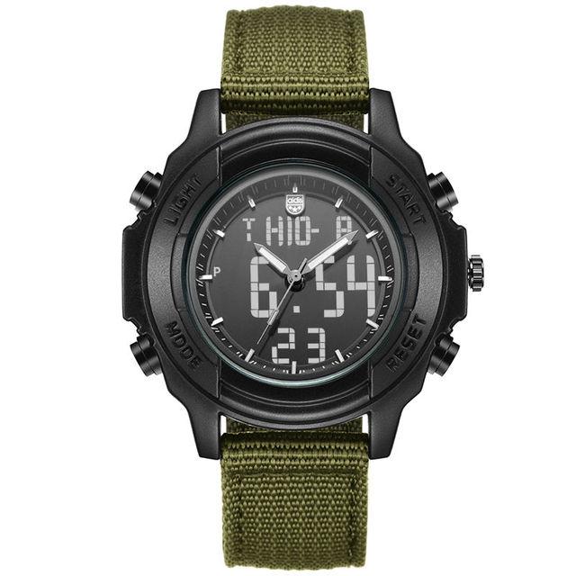 Estudantes Adolescentes Multifunções Relógio Eletrônico Esportes Ao Ar Livre À Prova D' Água Dupla Afixação relógios de Pulso Militar Relógios de Formulário
