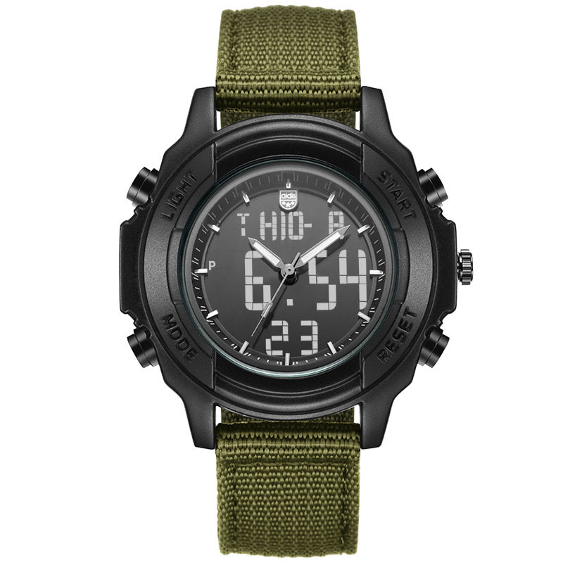 ФОТО Students Waterproof Dual Display Wristwatches Adolescents Multifunction Electronic Watch Outdoor Sports Military Form Watches
