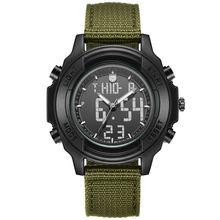 Студенты Водонепроницаемый Двойной Дисплей Наручные Часы Подростков Многофункциональный Электронные Часы Спорт На Открытом Воздухе Военная Форма Часы