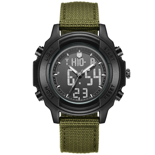 Students Waterproof Dual Display Wristwatches Adolescents Multifunction Electronic Watch Outdoor Sports Military Form Watches