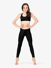 Icostumes Girls Leggings  Lycra Gymnastics Dance Low Waist Workout Fitness Legging Pants
