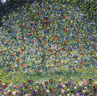 Handmade oil painting reproduction Apple Tree I by Gustav Klimt