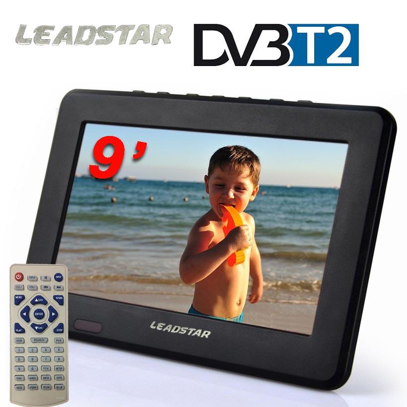 Televizoare noi 9 inch HD TV TFT color LCD DVB-T2 TV portabil cu - Audio și video acasă