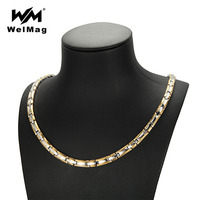 WelMag Power Necklaces Magnetic Bio Energy Healthy Necklace For Women Germanium Healing Jewelry Magnetic Therapy For